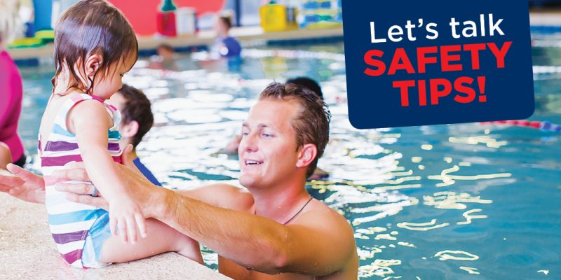 learn swimming with kids safely